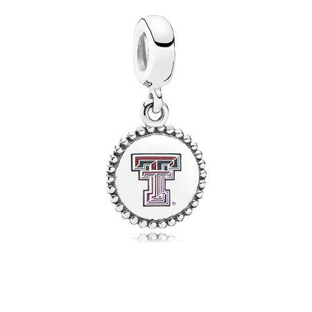 Texas Tech University Dangle Charm, Mixed Enamel