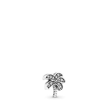 Sparkling Palm Tree Petite Locket Charm