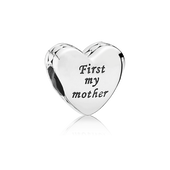 Mother & Friend Engraved Heart Charm