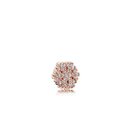 Shimmering Snowflake Petite Charm, PANDORA Rose™ & Clear CZ