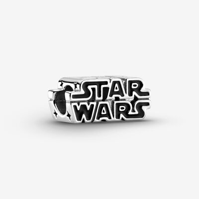 Star Wars Silver 3D Logo Charm , Silver