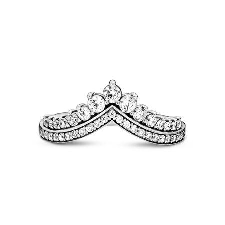 Princess Wish Ring, Clear CZ, Sterling silver, Cubic Zirconia - PANDORA - #197736CZ