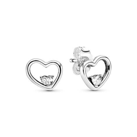 Asymmetrical Heart Stud Earrings