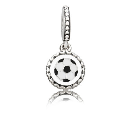 Soccer Dangle Charm, Mixed Enamel