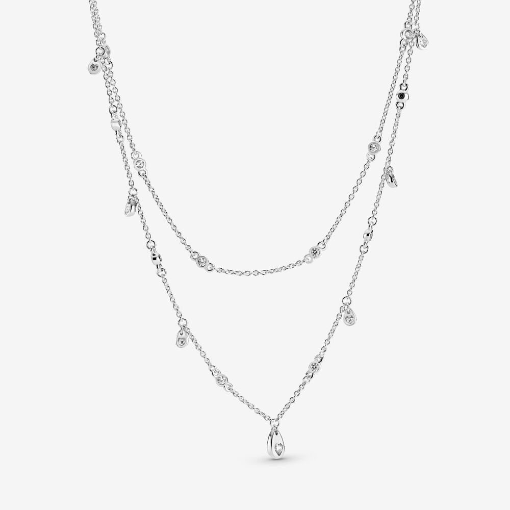 Layered Chandelier Droplet Necklace