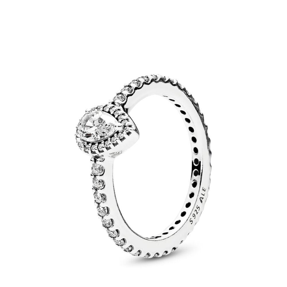 3ae9522e0 Radiant Teardrop Ring, Clear CZ, Sterling silver, Cubic Zirconia - PANDORA  - #