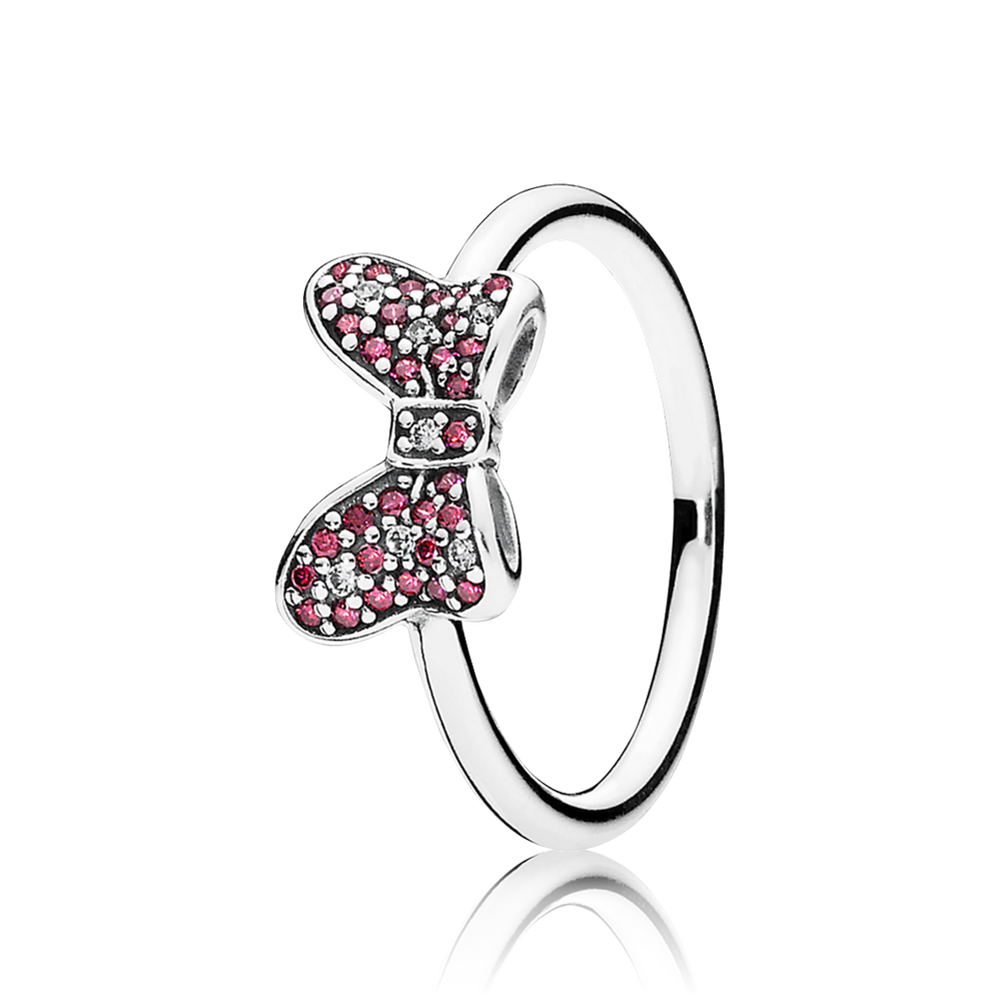 Disney minnies sparkling bow ring red clear cz pandor disney minnies sparkling bow ring red clear cz aloadofball Images