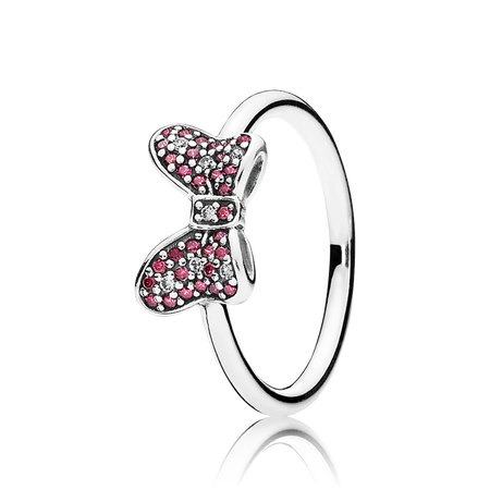 ring bow sale cheap rings silver sentiments clearance delicate online pandora