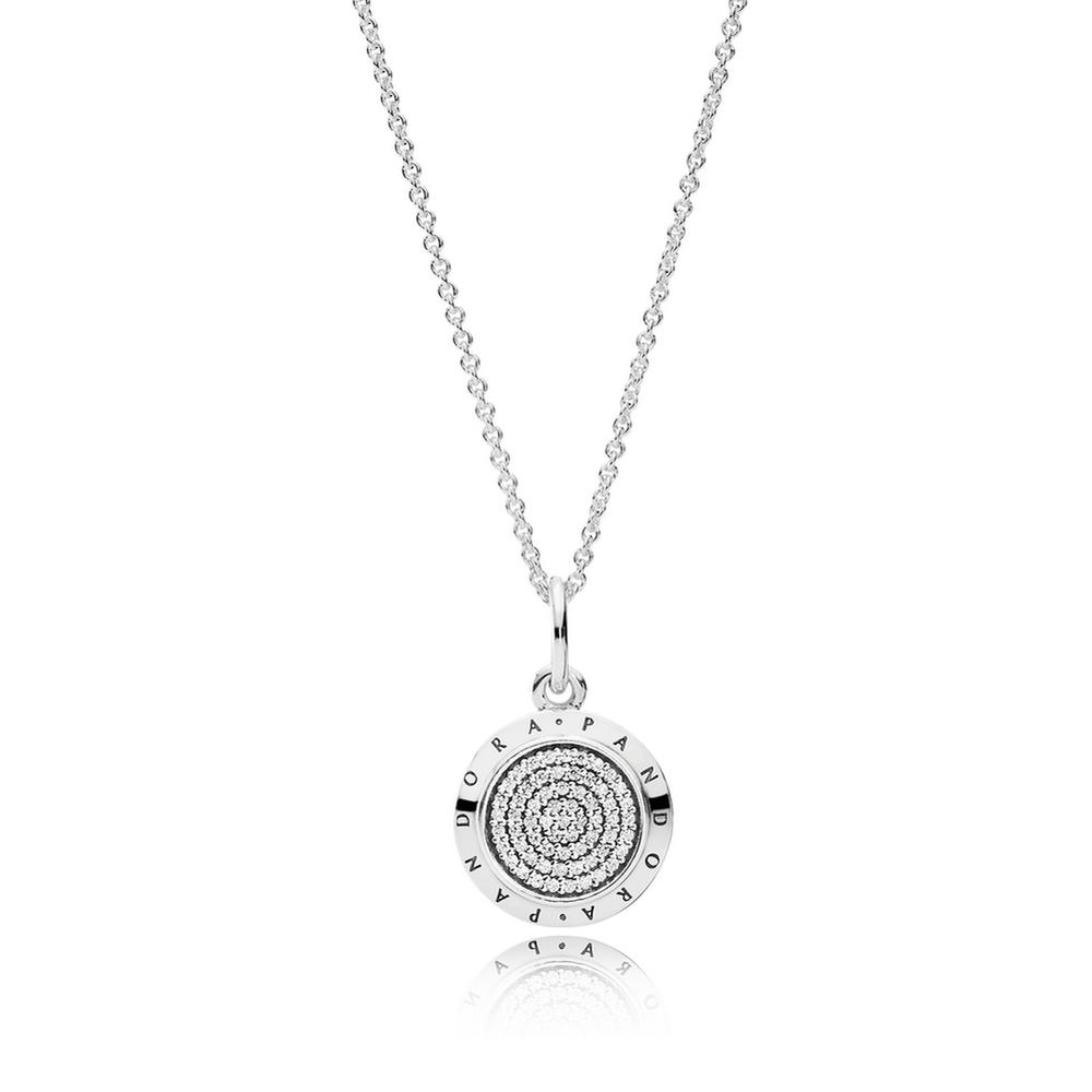 Pandora signature pendant necklace clear cz pandora jewel pandora signature pendant necklace clear cz mozeypictures Image collections