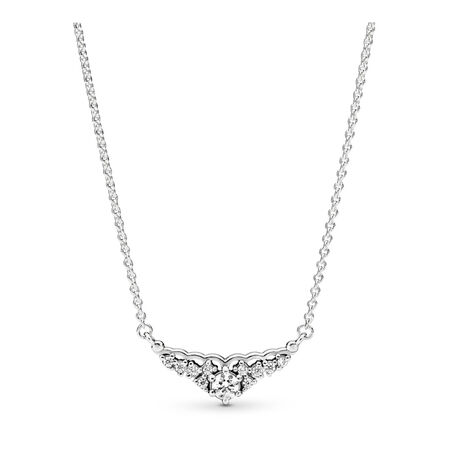 Fairytale Tiara Necklace, Clear CZ, Sterling silver, Cubic Zirconia - PANDORA - #396227CZ