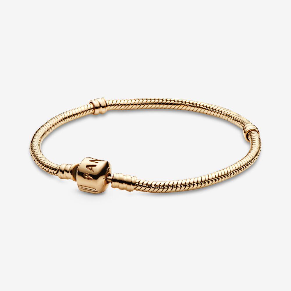 Pandora Moments Snake Chain Bracelet | Gold | Pandora US