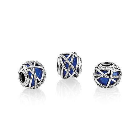 Galaxy Charm, Royal Blue Crystal & Clear CZ