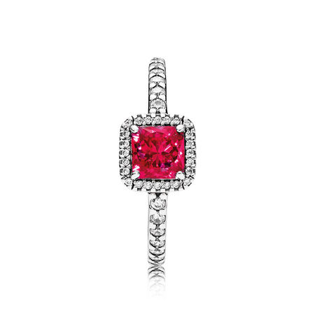 Timeless Elegance, Synthetic Ruby & Clear CZ