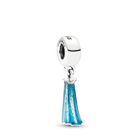 Disney, Elsa's Dress Dangle Charm, Mixed Enamel, Sterling silver, Enamel, Blue - PANDORA - #791590ENMX