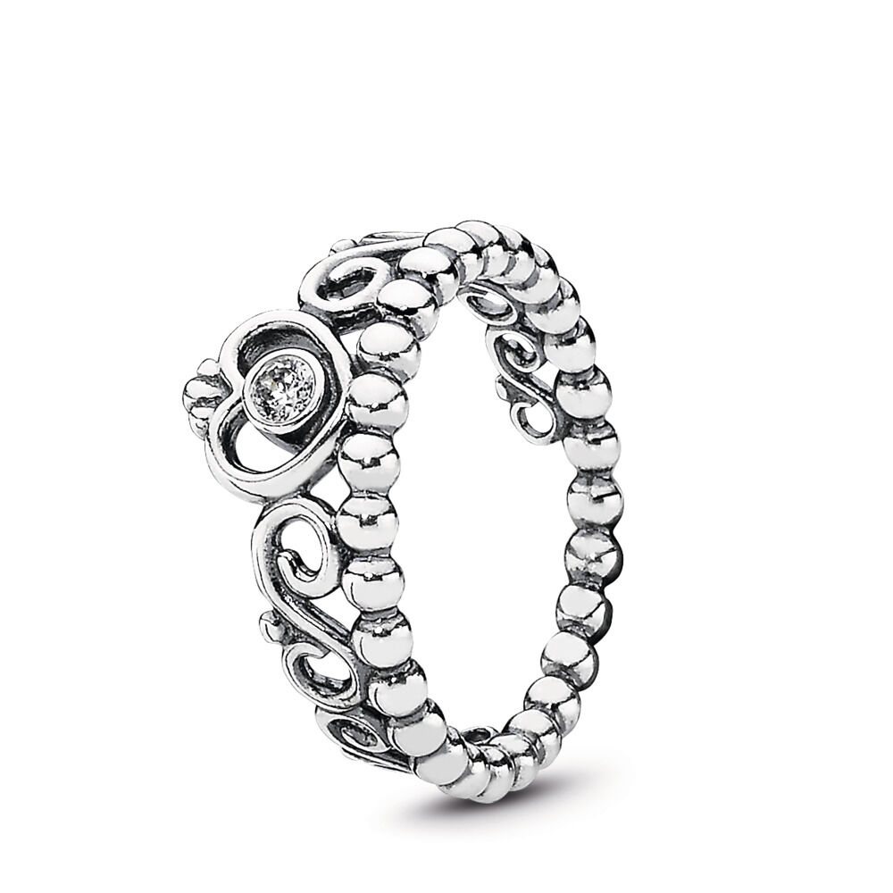 07cfb8034 Princess Tiara Crown Ring, Sterling silver, Cubic Zirconia - PANDORA -  #190880CZ