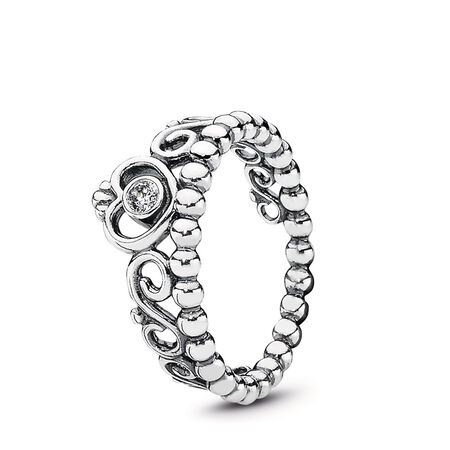 Princess Tiara Crown Ring, Sterling silver, Cubic Zirconia - PANDORA - #190880CZ