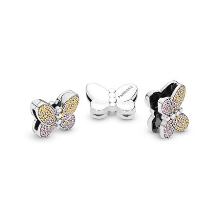 Pandora Reflexions™ Bedazzling Butterfly Clip Charm