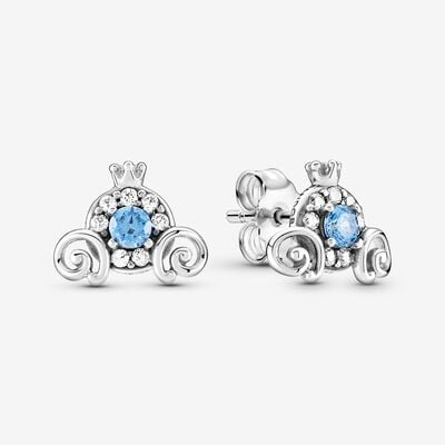 Disney Cinderella Pumpkin 코치 COACH Stud Earrings , Silver