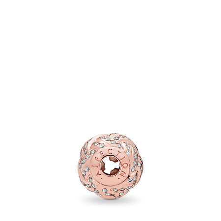AFFECTION Charm, PANDORA Rose™ & Clear CZ, PANDORA Rose, Silicone, Cubic Zirconia - PANDORA - #786303CZ