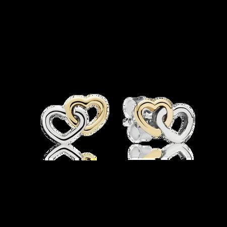 Heart To Heart Stud Earrings