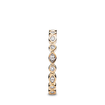 Alluring Brilliant Marquise Ring, Clear CZ & 14K Gold
