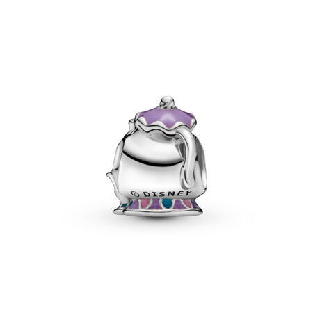Disney, Mrs. Potts & Chip Charm, Mixed Enamel, Sterling silver, Enamel, Blue - PANDORA - #792141ENMX