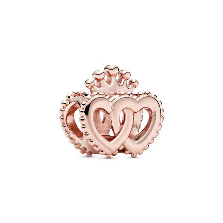 United Regal Hearts Charm, PANDORA Rose™, PANDORA Rose - PANDORA - #787670
