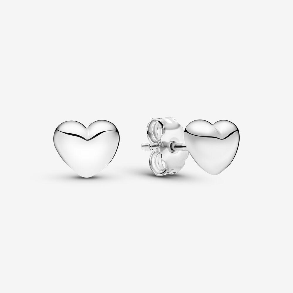 Simple Heart Stud Earrings