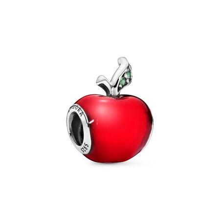 Disney Snow White's Red Apple Charm, Sterling silver, Enamel, Green, Cubic Zirconia - PANDORA - #791572EN73