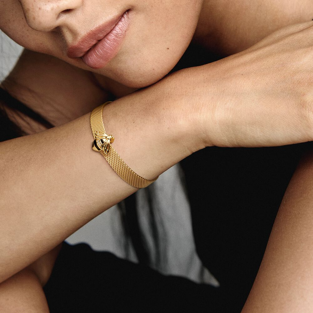 Bee Clip Charm - FINAL SALE | Gold plated | Pandora US