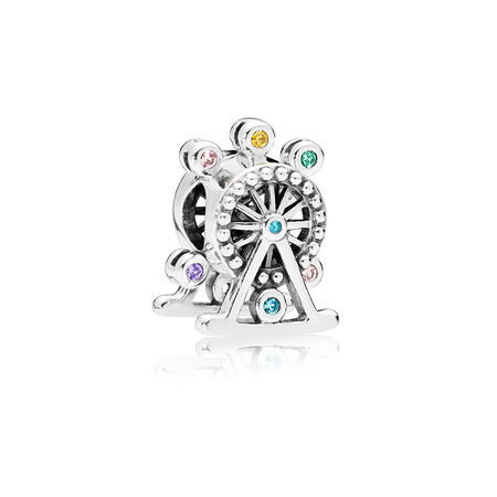 Ferris Wheel Charm, Multi-Colored Crystal
