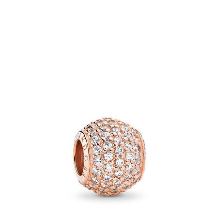 Pavé Lights, PANDORA Rose™ & Clear CZ, PANDORA Rose, Cubic Zirconia - PANDORA - #781051CZ