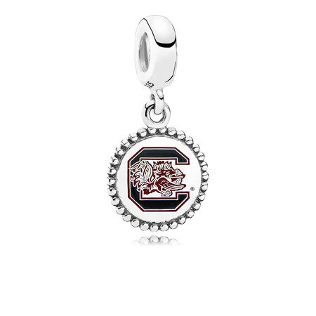 University of South Carolina Dangle Charm, Maroon Enamel