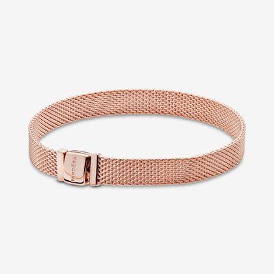 판도라 팔찌 Pandora Reflexions Mesh Bracelet , Rose Gold