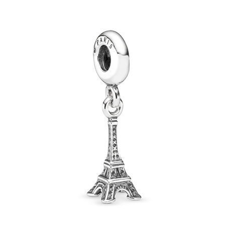 Eiffel Tower Dangle Charm, Sterling silver - PANDORA - #791082