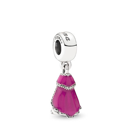 Disney, Anna's Dress Dangle Charm, Mixed Enamel, Sterling silver, Enamel, Black - PANDORA - #791591ENMX