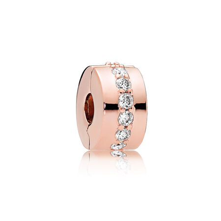 Shining Path Clip, PANDORA Rose™ & Clear CZ
