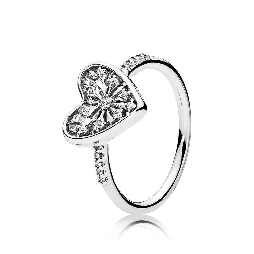 Heart Of Winter Ring Clear Cz Pandora Jewelry Us