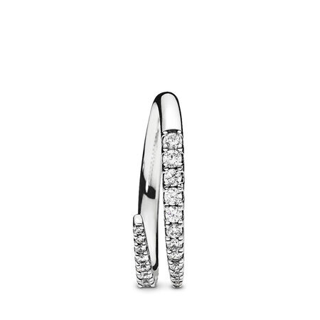 Shooting Star Ring Clear Cz Sterling Silver Cubic Zirconia Pandora