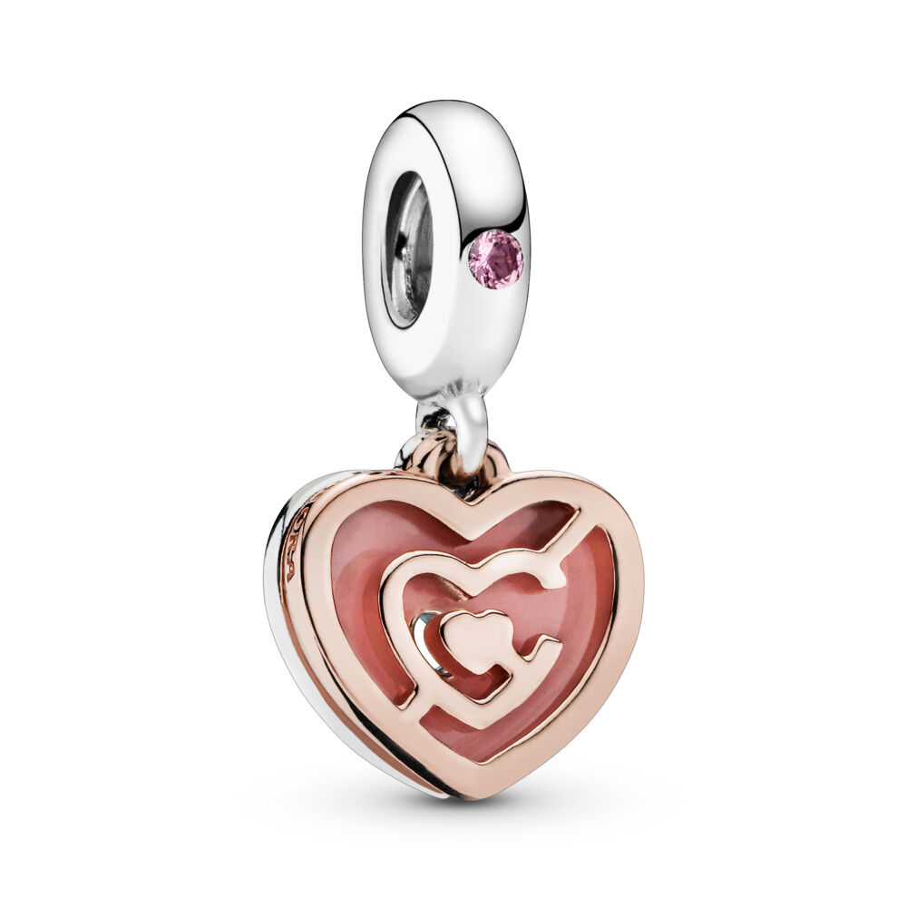 0b9526a87 Path to Love Charm, PANDORA Rose™, Pink Crystal & Enamel, PANDORA Rose