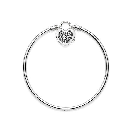 Limited Edition Flourishing Heart Padlock Bangle