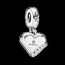 Grand Piano Heart Dangle Charm