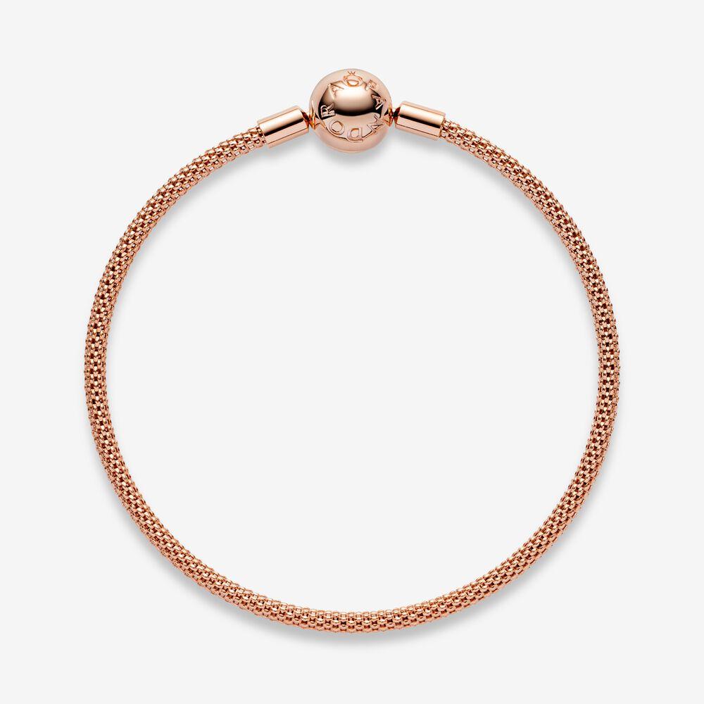 Pandora Moments Mesh Bracelet | Rose gold plated | Pandora US