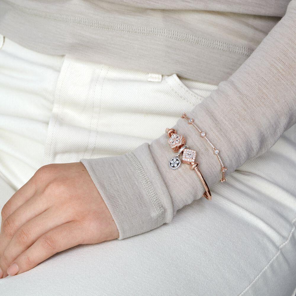 Pandora Moments Open Bangle | Rose gold plated | Pandora US