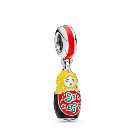 Matryoshka Doll Charm, Mixed Enamel