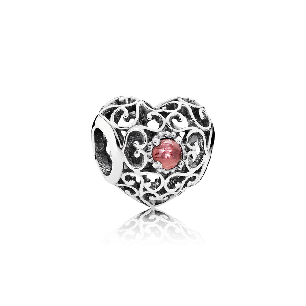 January Signature Heart Charm Garnet Pandora Jewelry Us