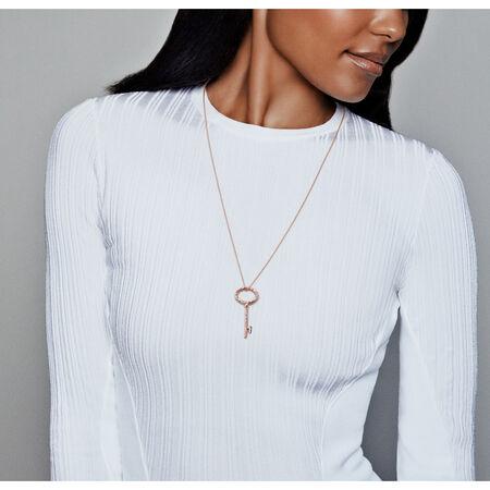 Regal Key Necklace, PANDORA Rose™, PANDORA Rose - PANDORA - #387676