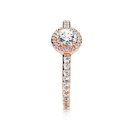 Classic Elegance Ring, PANDORA Rose™ & Clear CZ