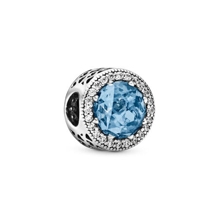 a0a1a54ad Radiant Hearts Charm, Sky-Blue Crystal & Clear CZ Sterling silver, Blue,  Mixed stones