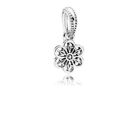 Floral Daisy Lace Dangle Charm